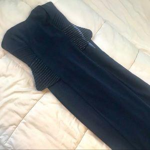 Ralph Lauren Navy Beaded Evening Dress. 8.